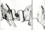 [Fine Liner] elephants, stone, lion, latte macciatto