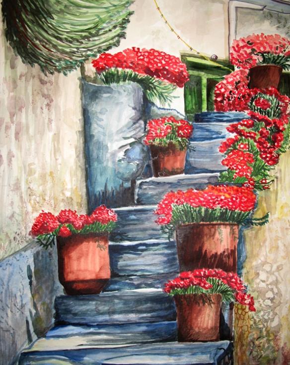 Blaue Treppe  Kopie